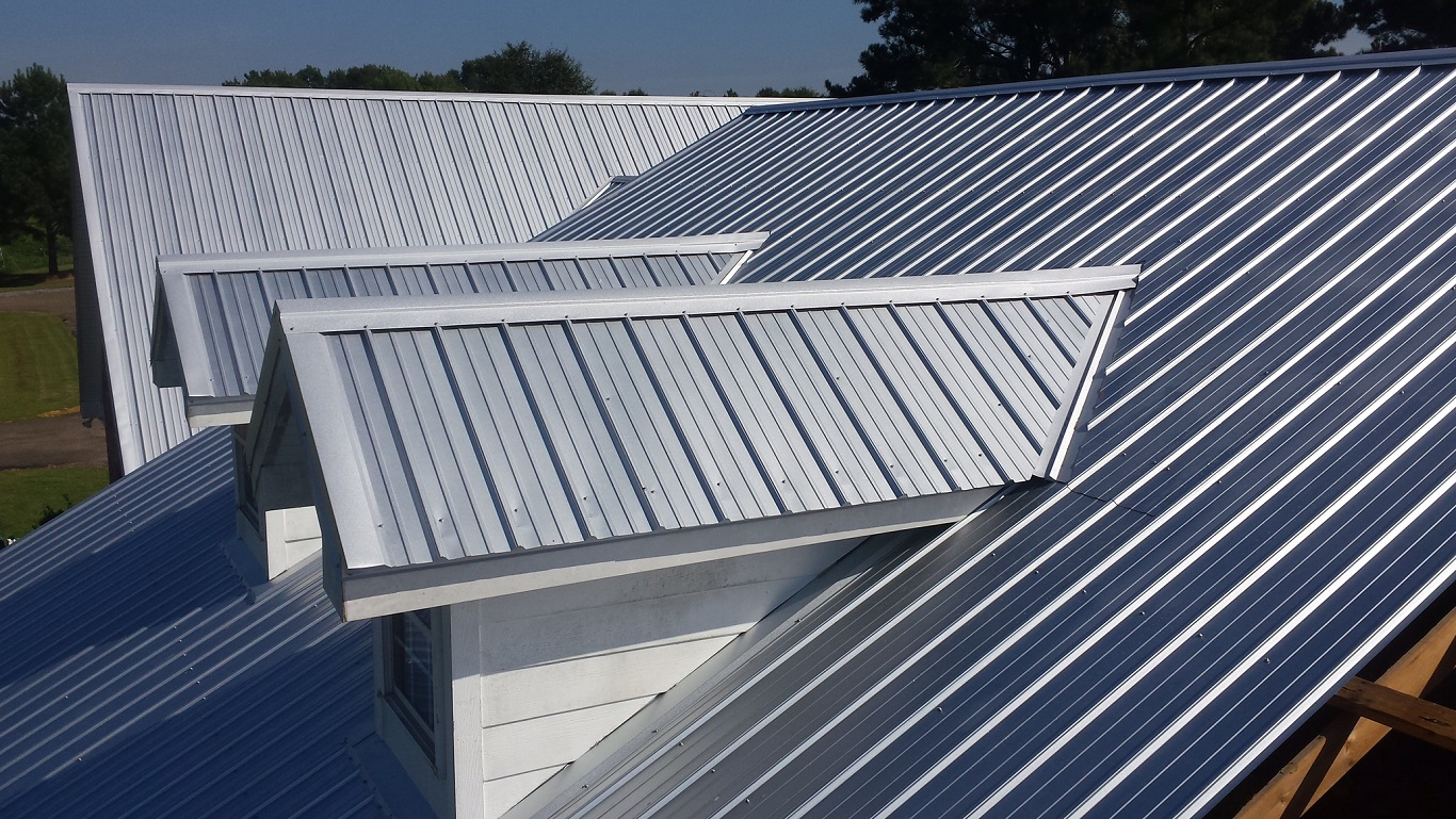 Silver Sheet Standing Seam Metal Roof Texture Cheap