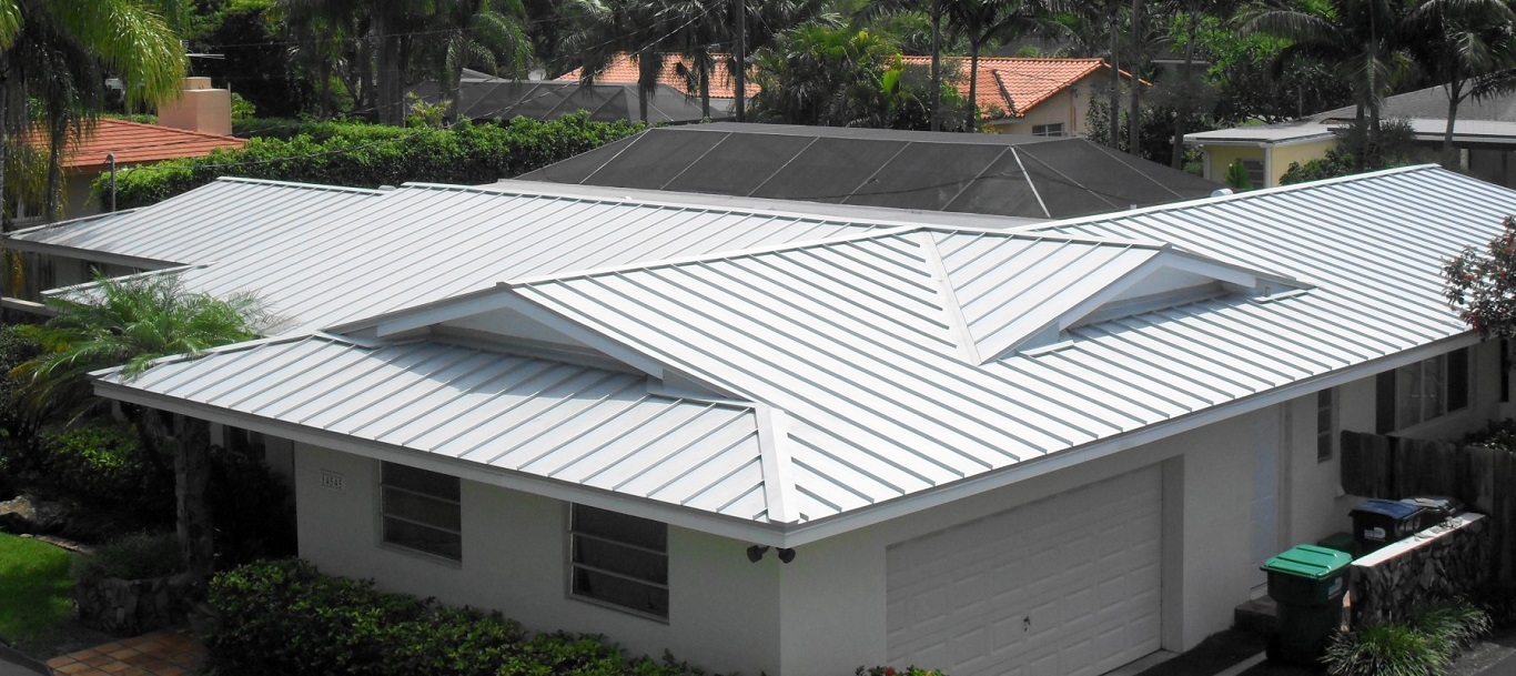 White Standing Seam Metal Roof Texture on a Budget