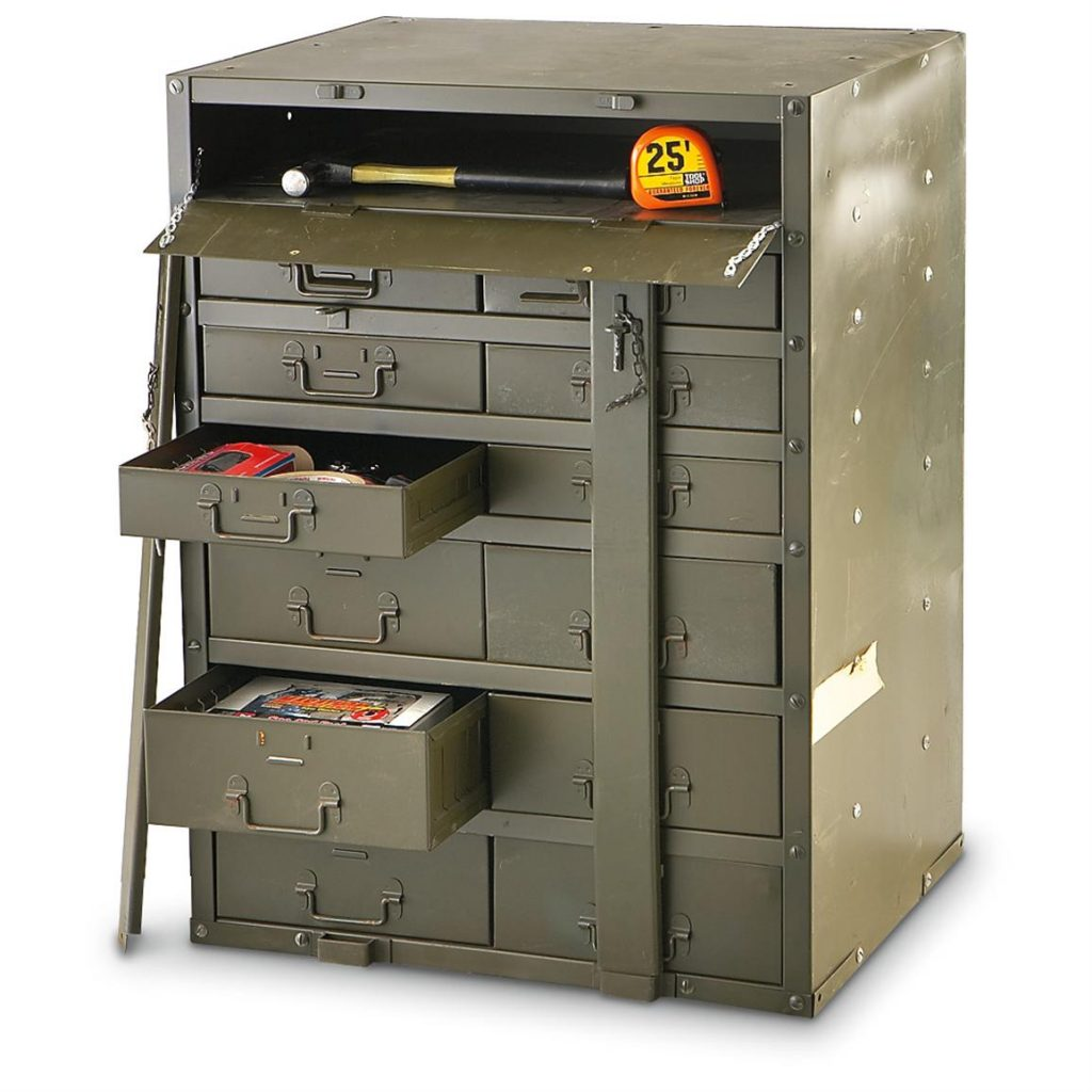 Ammo Metal Storage Box with Cabinet
