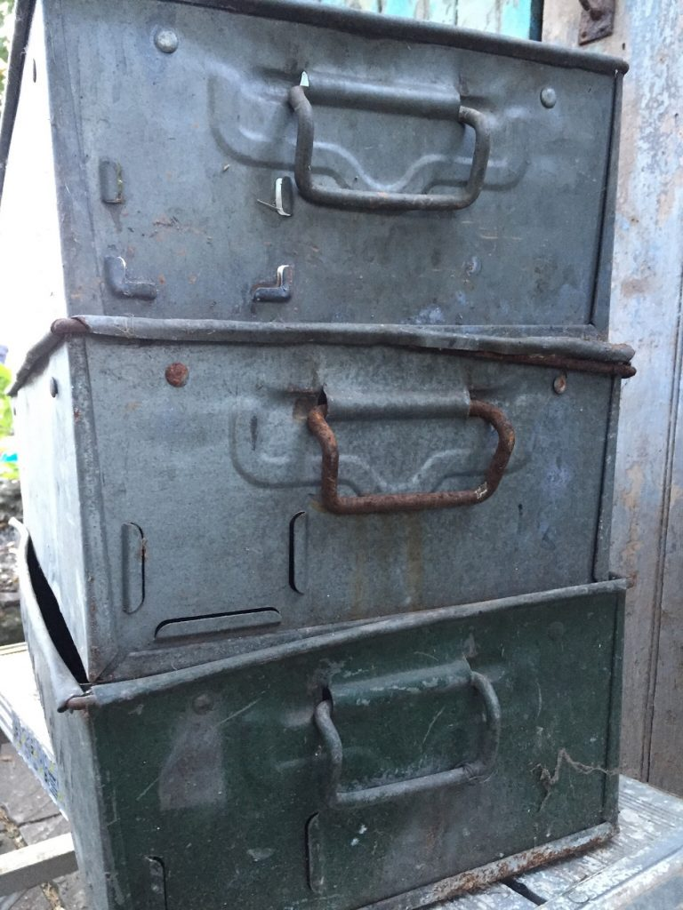 Antique Metal Storage Box But Old Fashioned