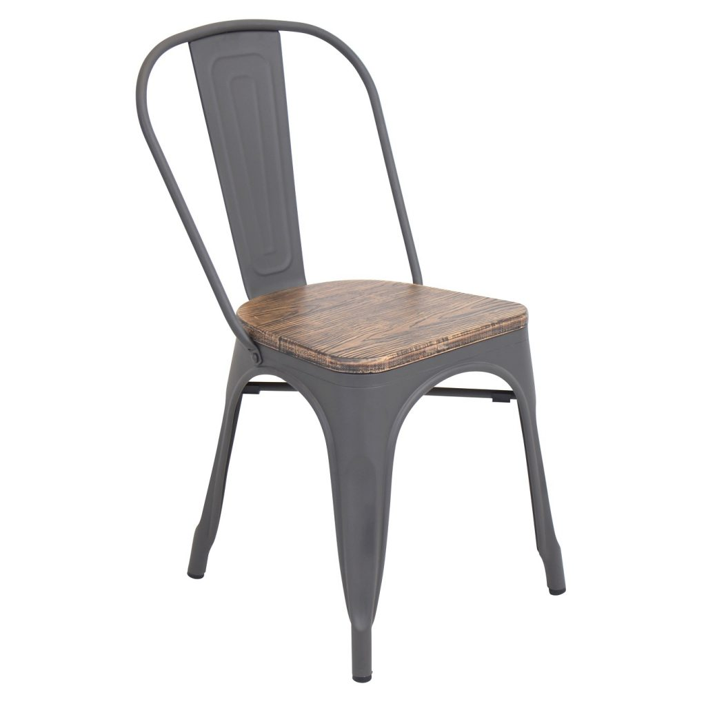 Cool Metal and Wood Dining Chair
