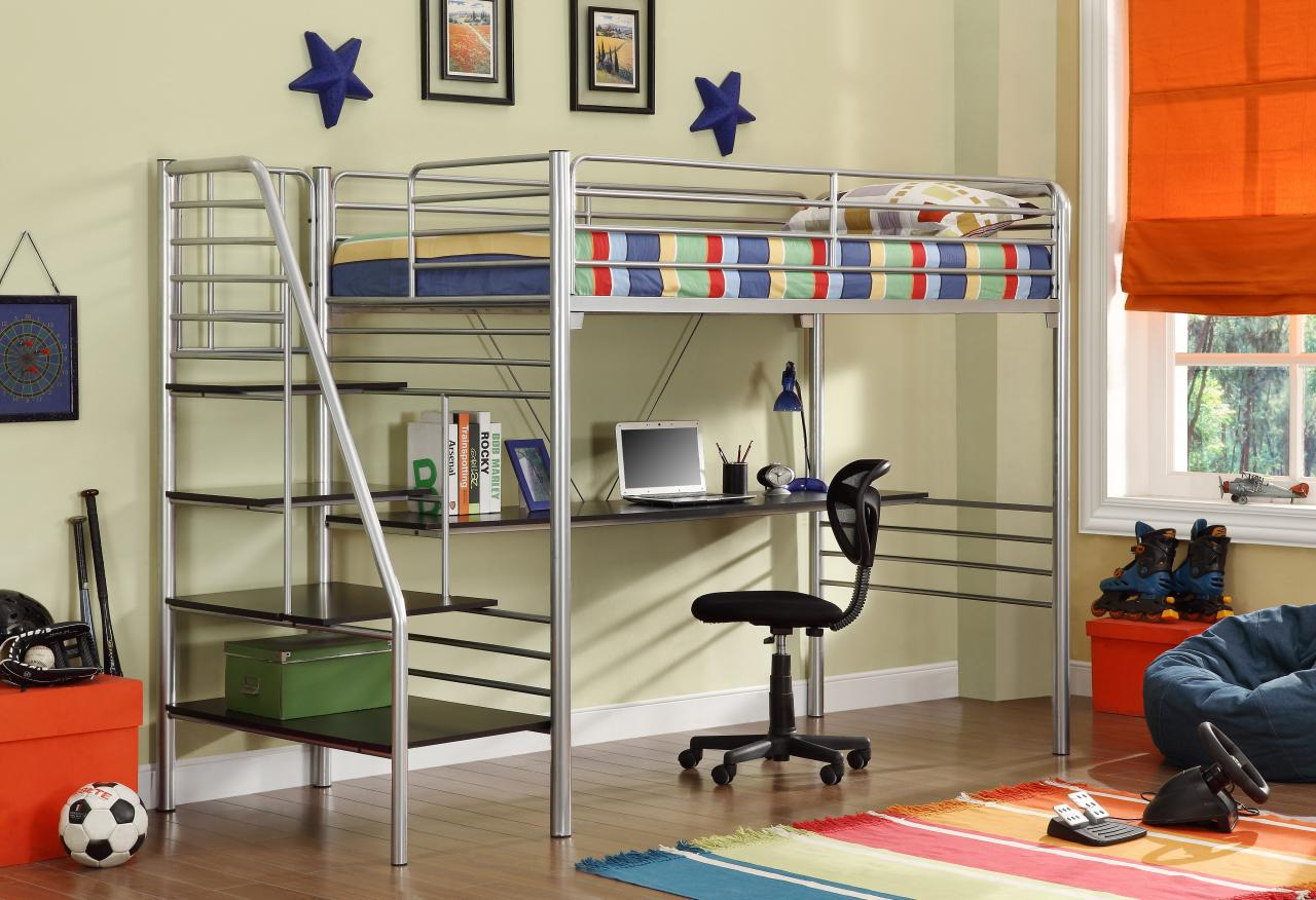 Cheap Metal Desk Bunk Bed on a Budget