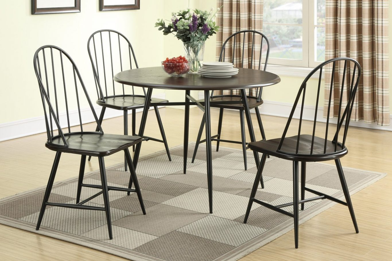 Cheap Metal Dining Chairs Set of 4