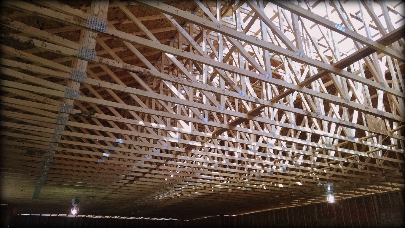 Wooden Metal Roof Truss with Steel Lock HD Images