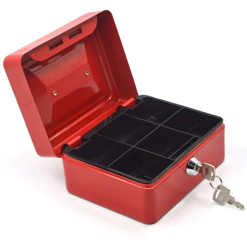 Metal Storage Box with Lock Red Edition on a Budget