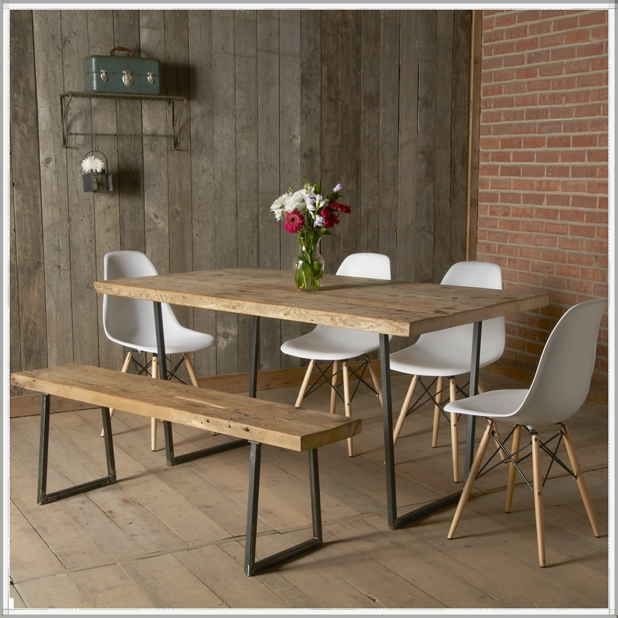 Mixing Metal and Wood Dining Chair Low Budget