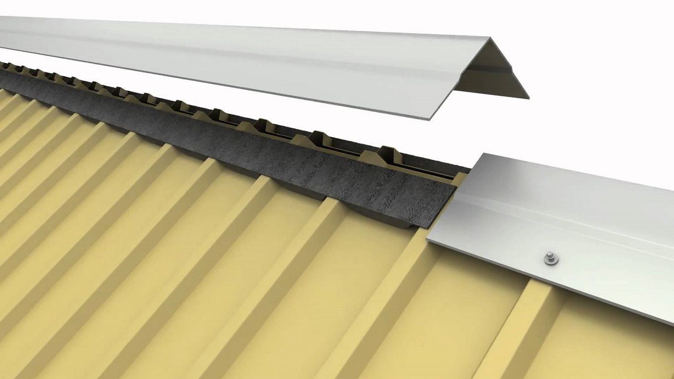 Silver Metal Roof Ridge Ventilator