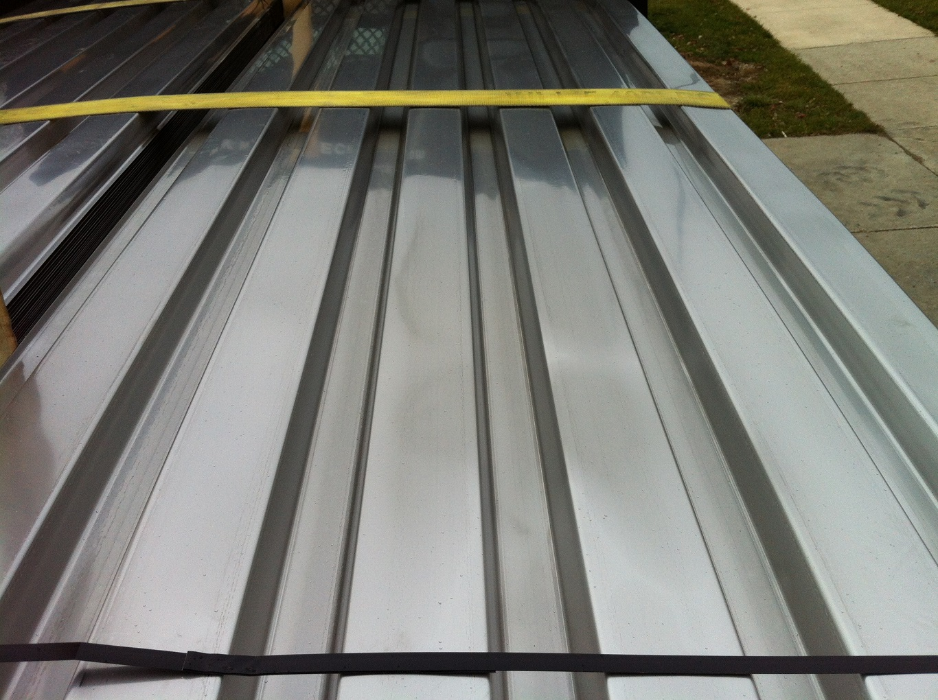 cheap build metal roof over deck