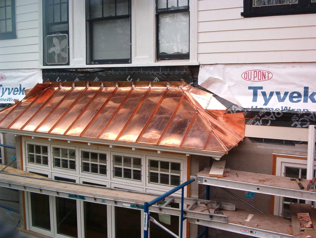 cheap copper standing seam metal roof cost