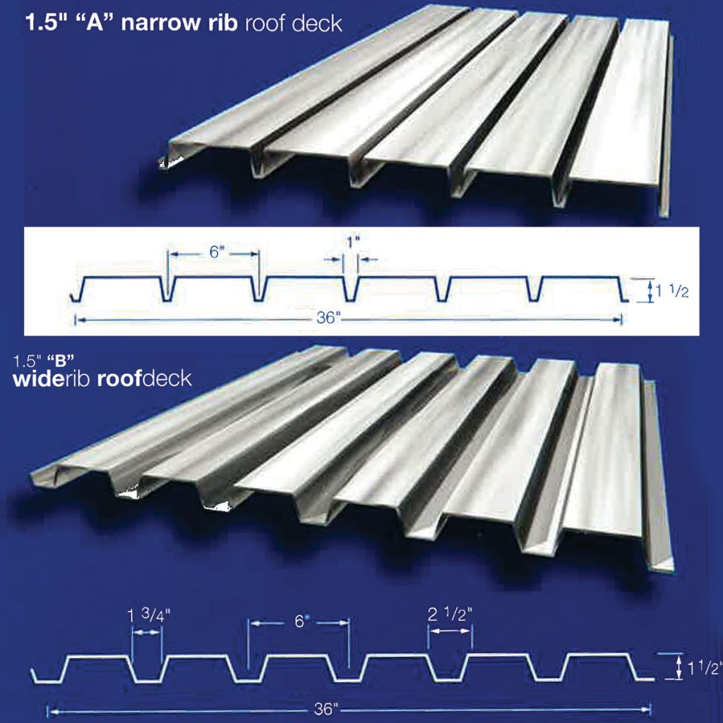 cheap corrugated metal roof over deck