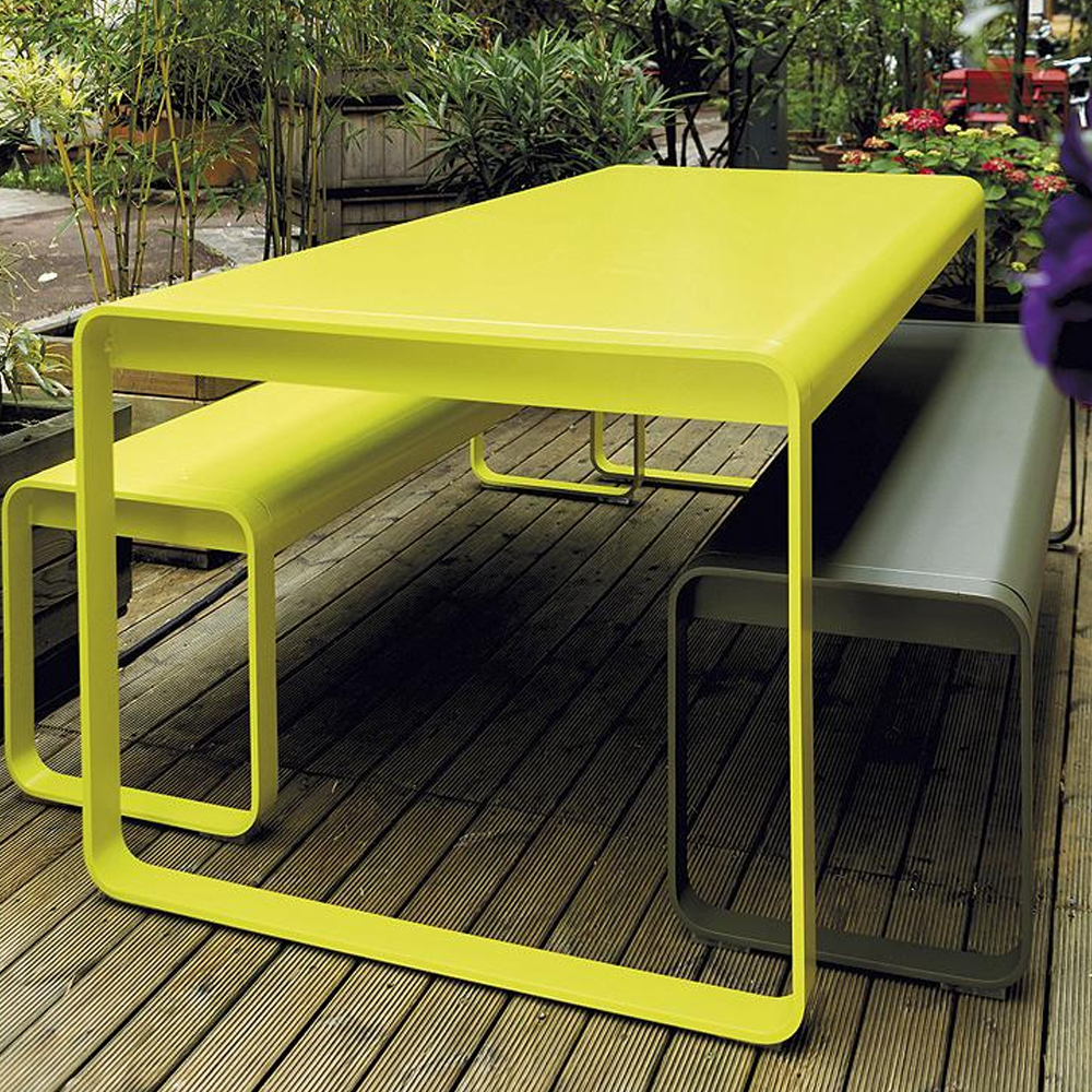 cheap green metal out door furniture