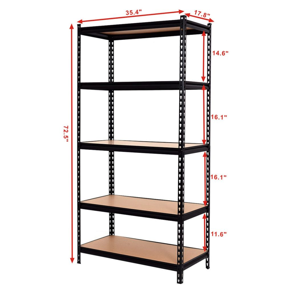 how to build metal storage shelves