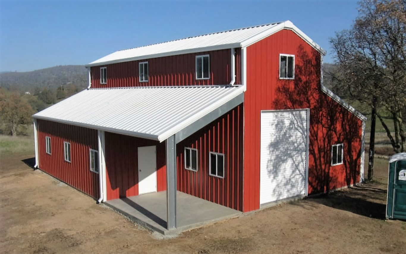Metal barn metal diy design decor for Metal building for home