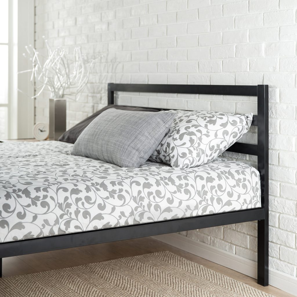 cheap metal bed frame no foot end