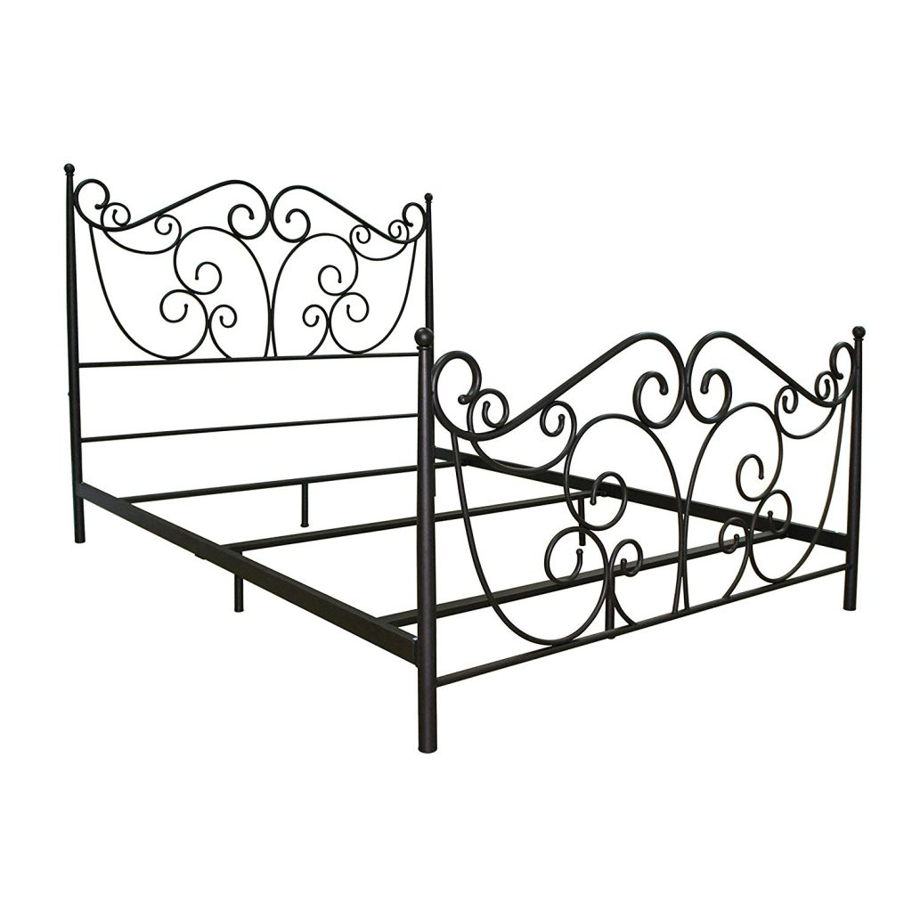 cheap metal bed frame queen dimensions