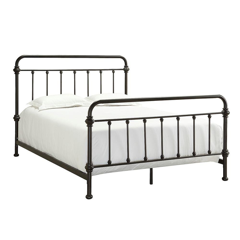 cheap metal bed frame queen size