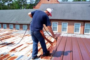 cheapmetal roof coating service