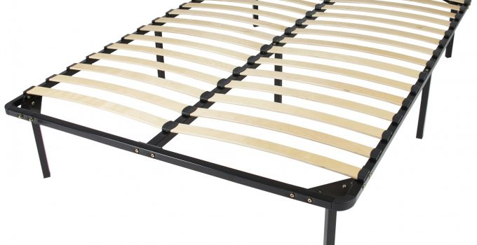 cheap red metal bed frame queen