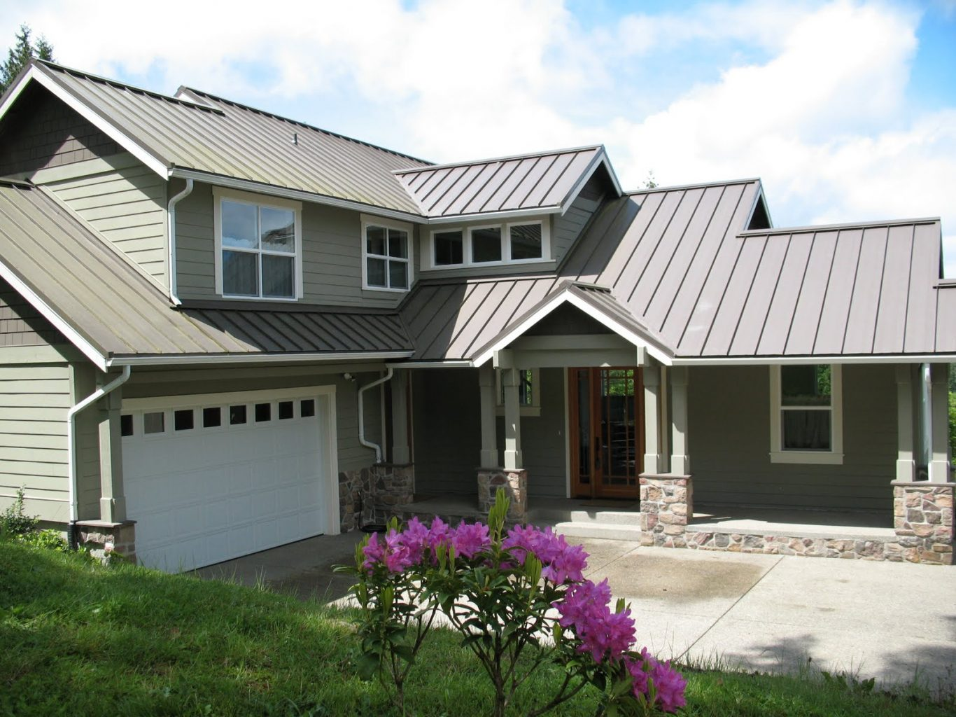 cheap standing seam metal roof definition