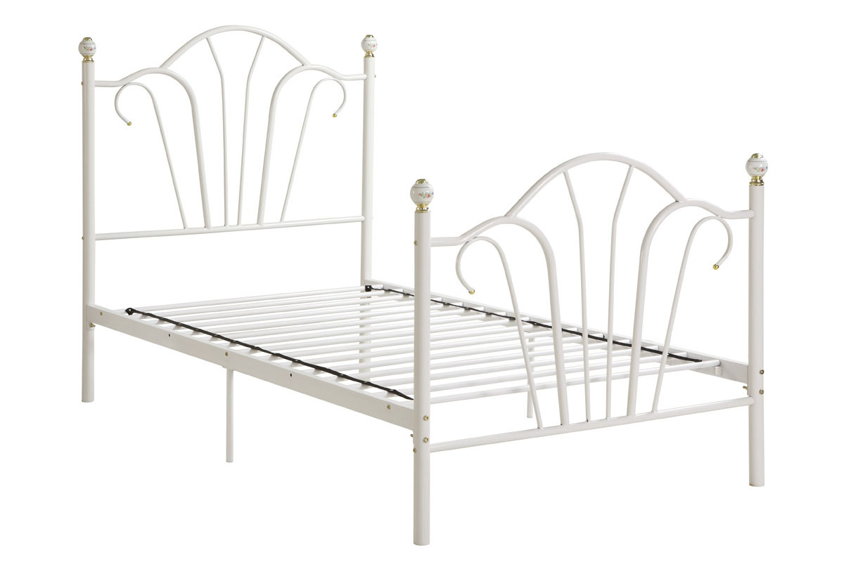 cheaptwin metal bed frame white