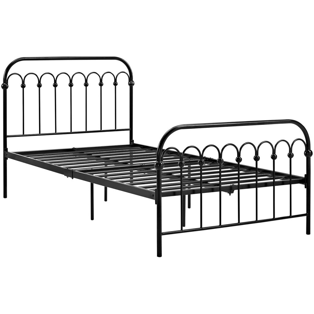 cheap twin xl metal platform bed frame