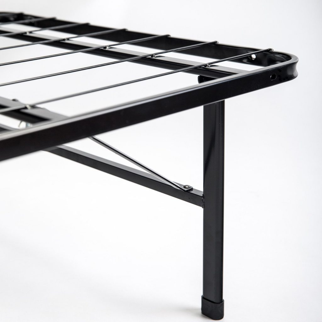 attach a metal bed frame to headboard on a budget