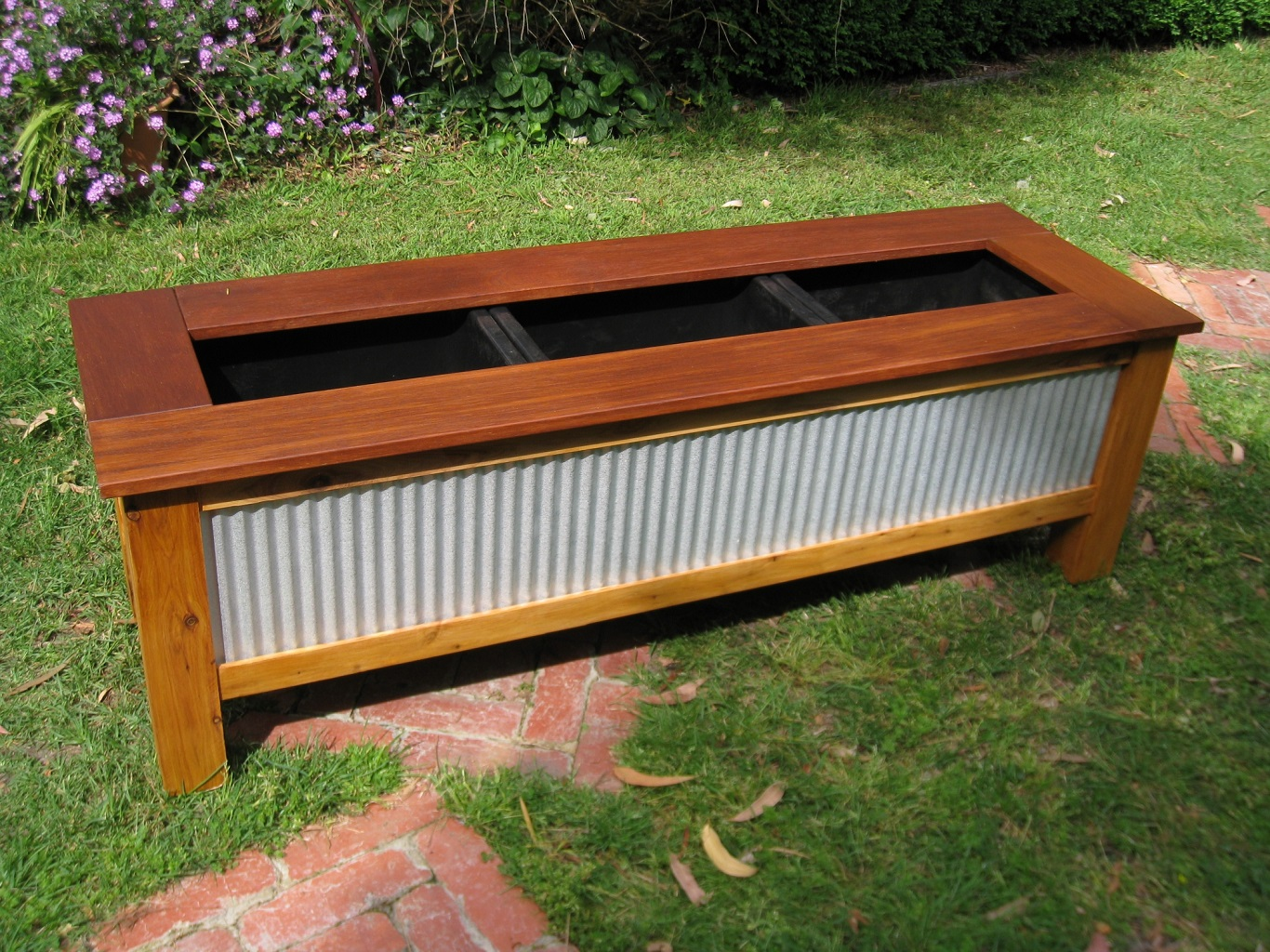 best and cheap corrugated metal planter box on a budget