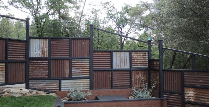 cheap corrugated metal fence austin