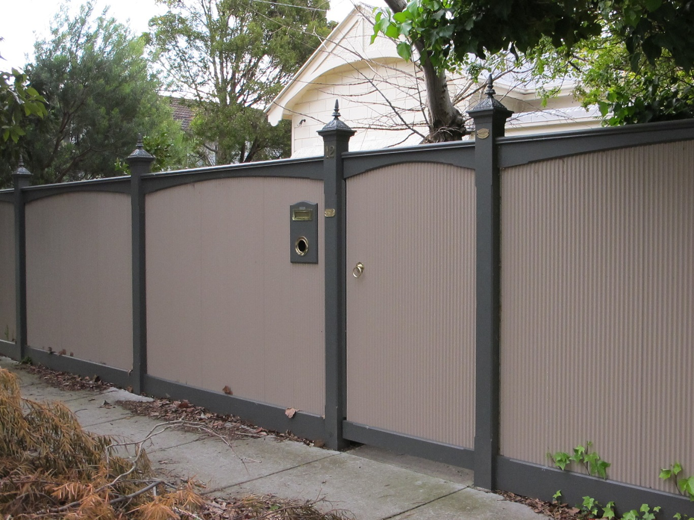 cheap corrugated metal fence ideas