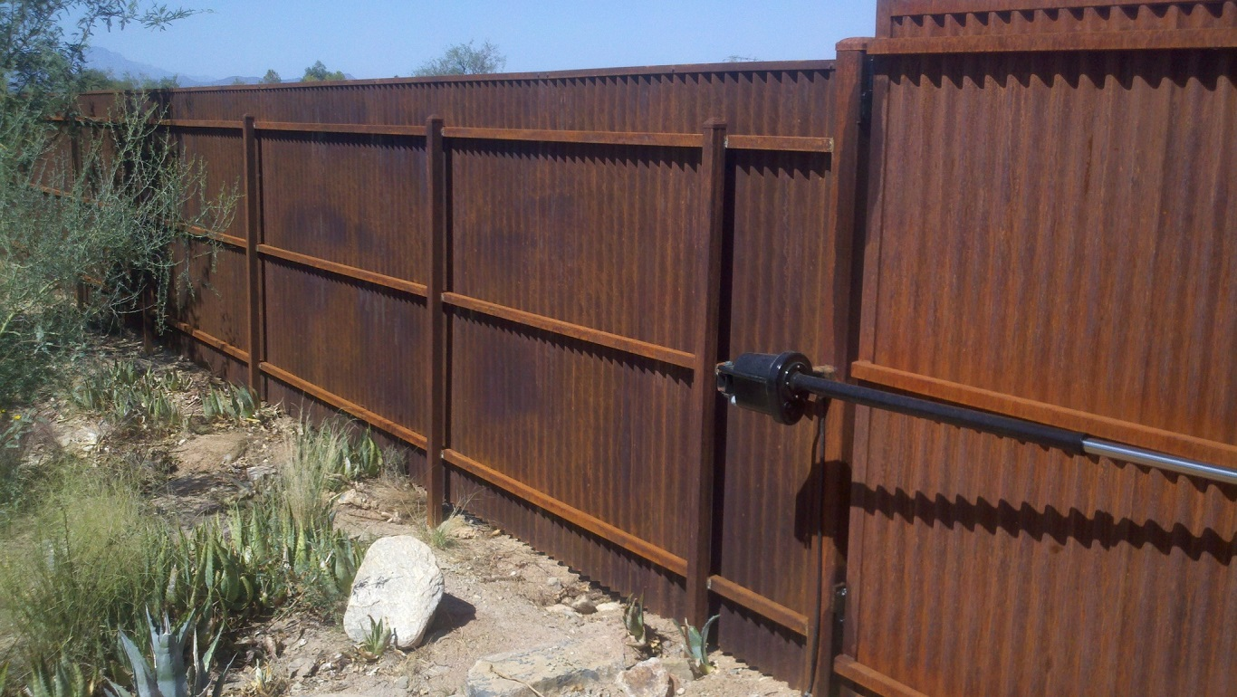 cheap corrugated metal fence palm springs