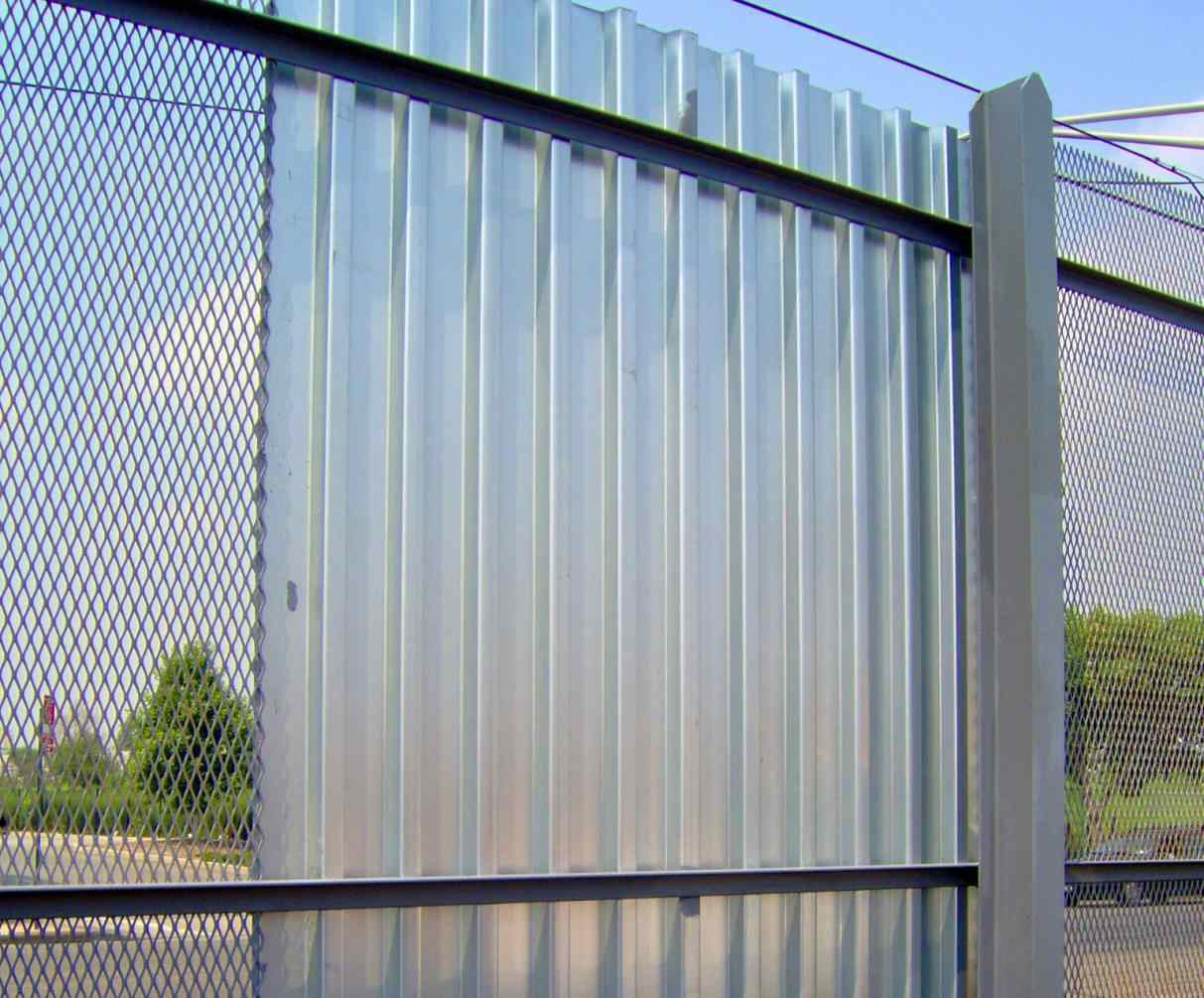 cheap corrugated metal fence panels