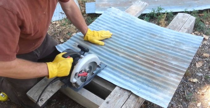 how to cut shapes out of corrugated metal