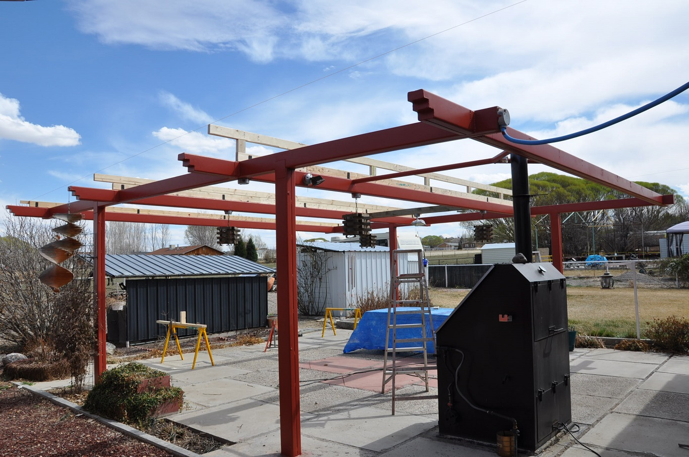 how to put a metal roof on a garage on a budget