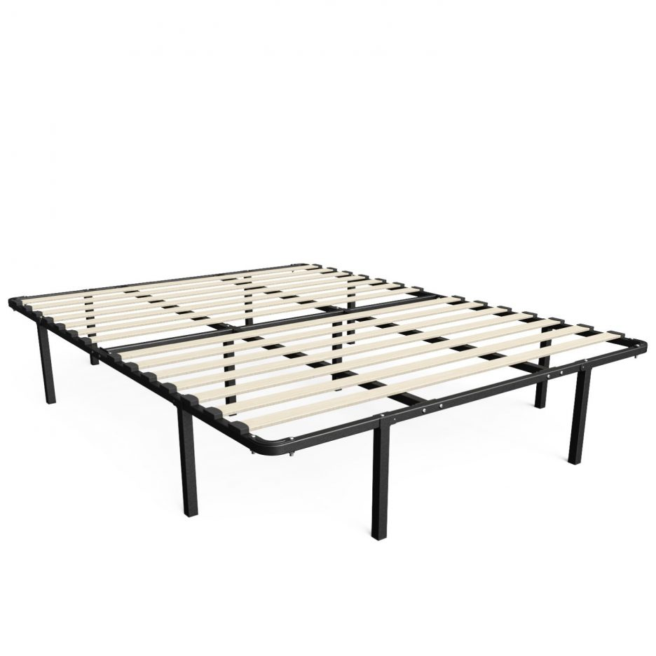 cheap metal bed frame assembly queen