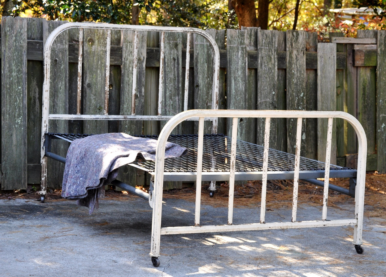 cheap metal bed frame full bed