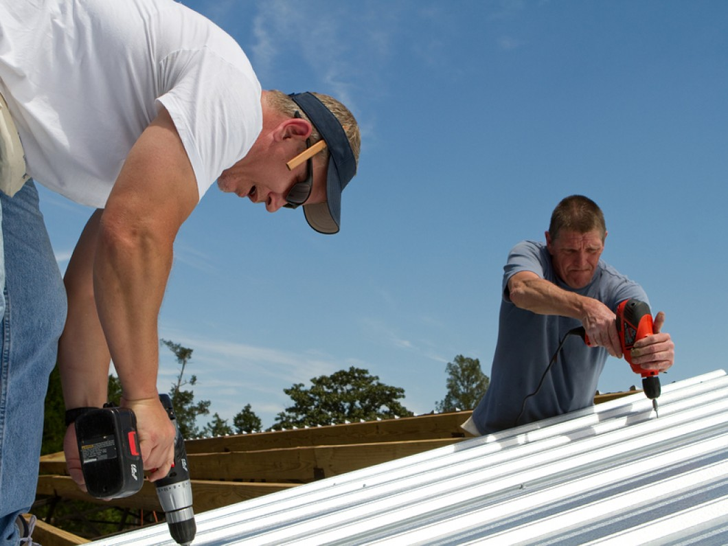 cheap metal roof cladding installation