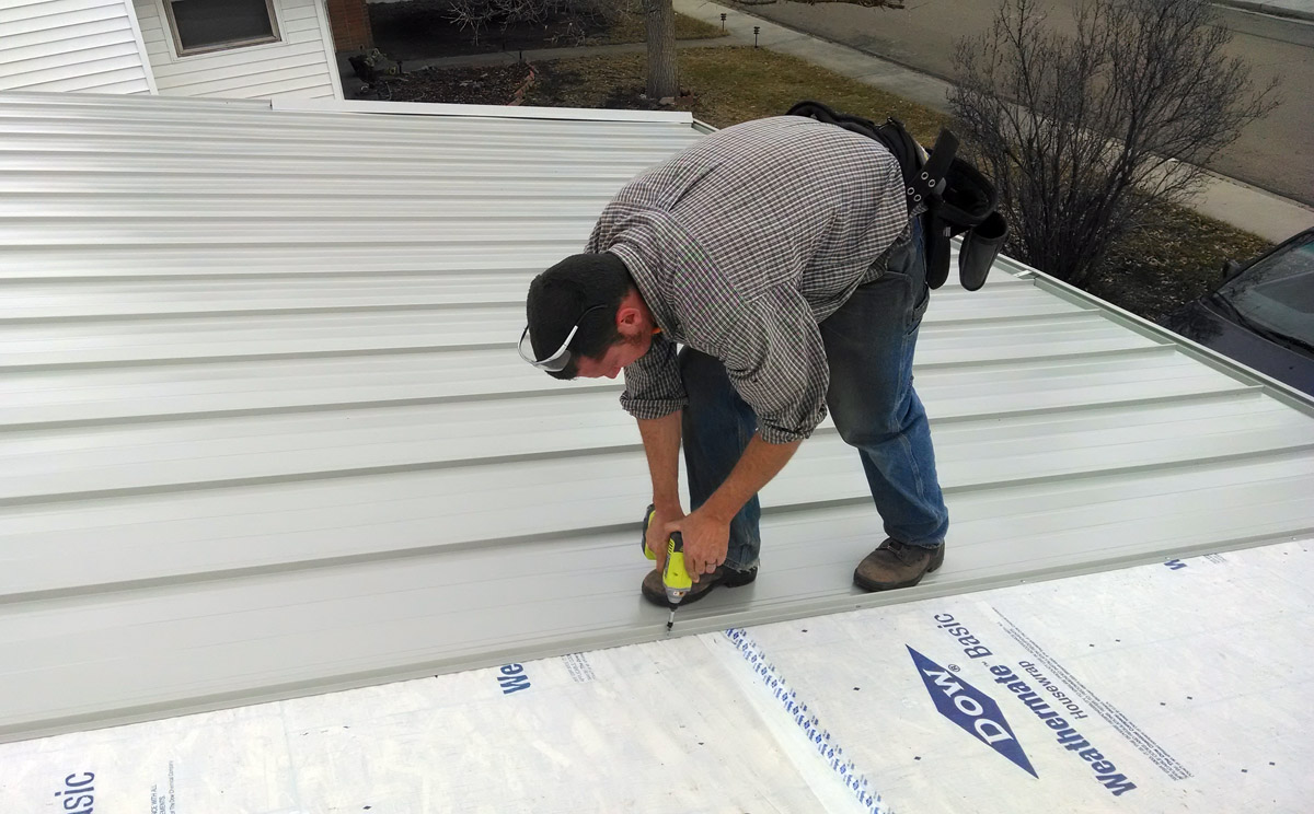 cheap metal roof do it yourself installation