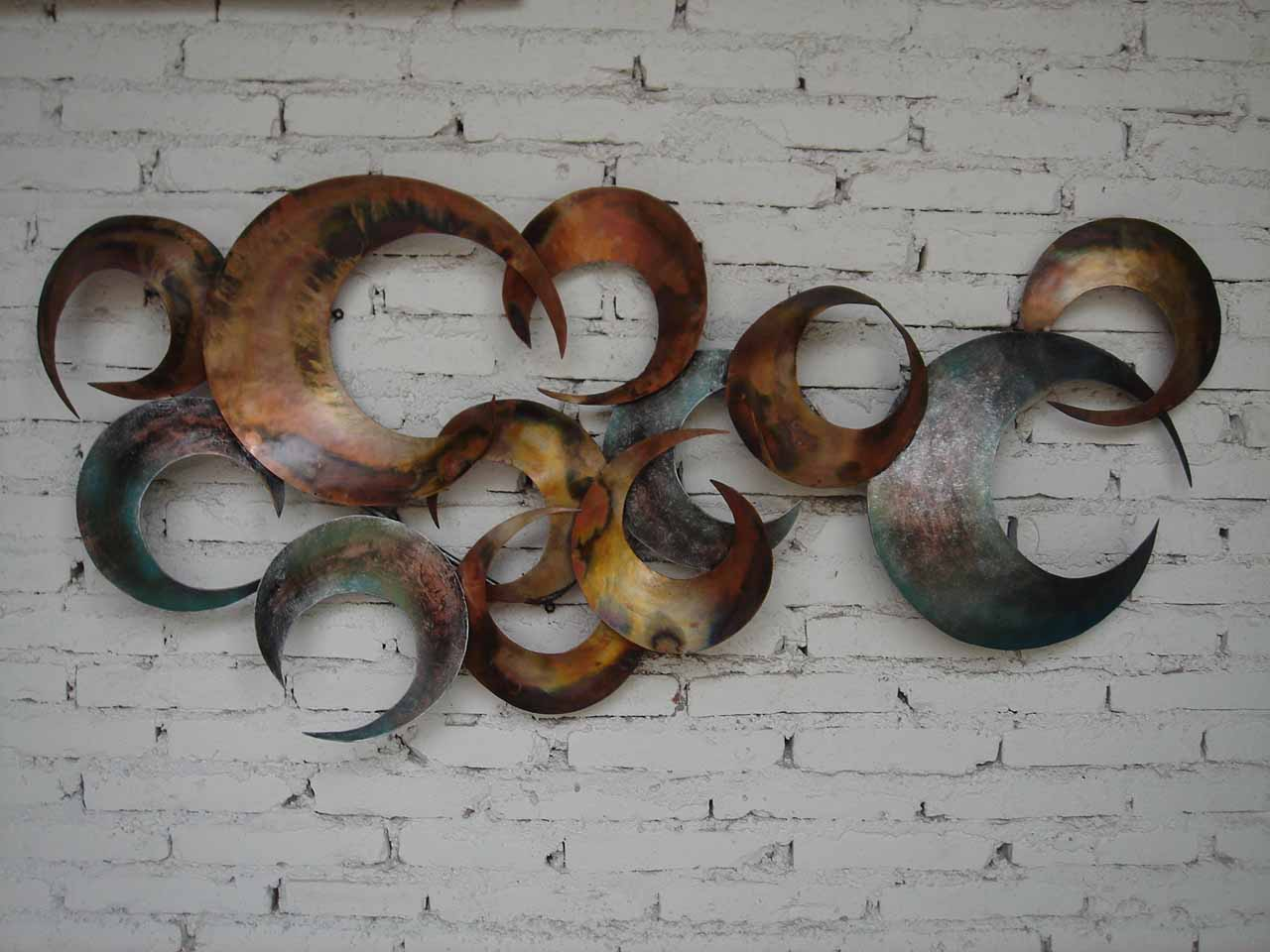 cheap metal wall art and decor leaves