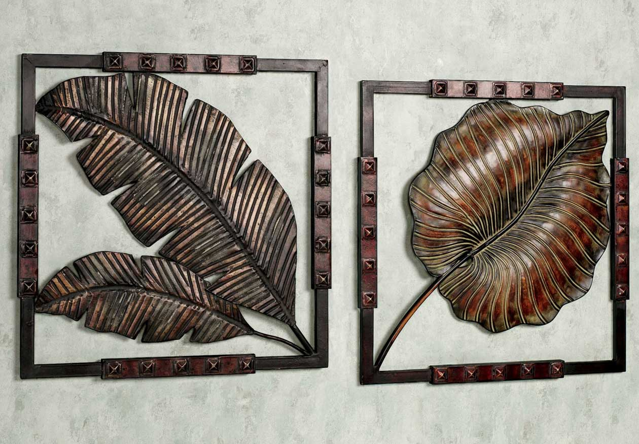 cheap metal wall art decor tropical