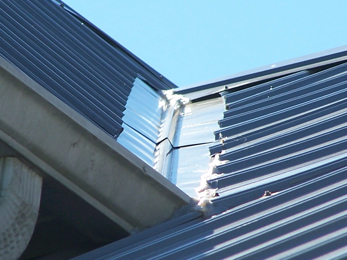 how to fixing a metal roof leak with a tight budget
