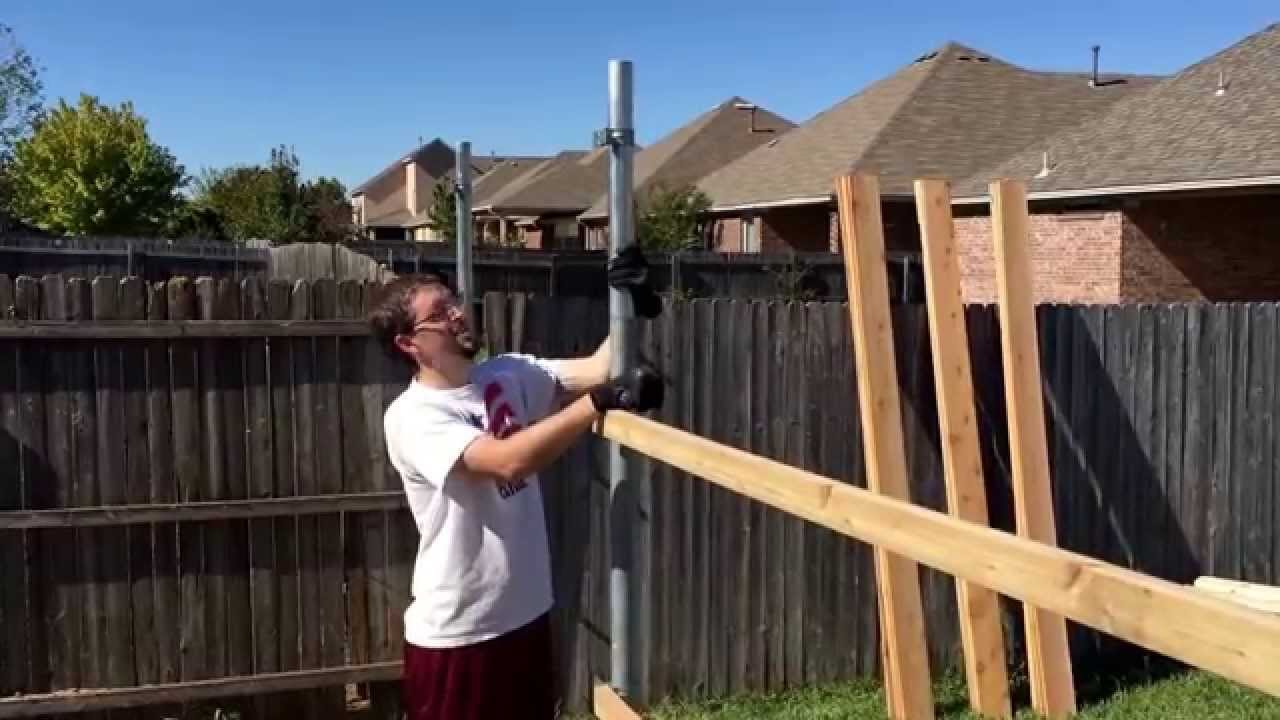 how to install a metal fence post