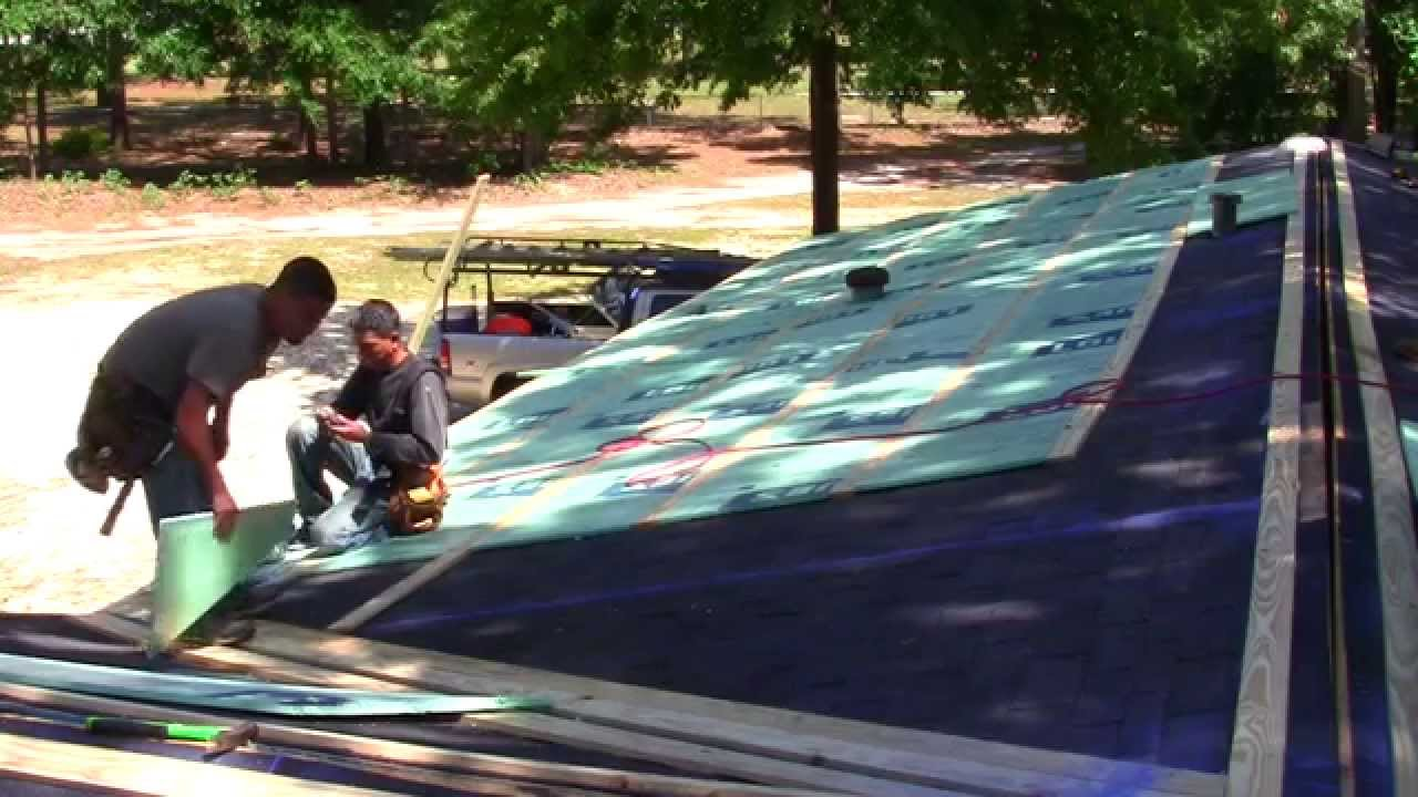 how to put a metal roof on a hip roof on a budget