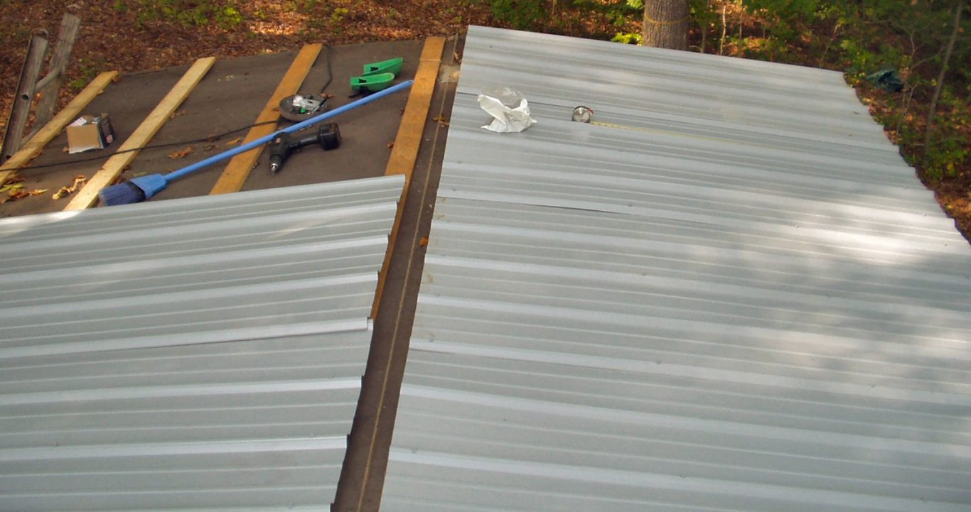 how to put a metal roof on a porch on a budget
