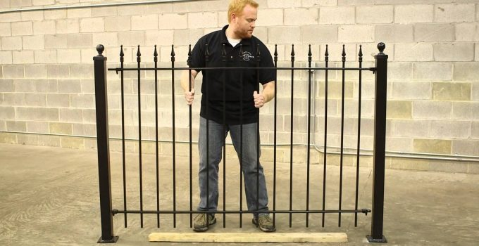 how to put metal fence post in the ground