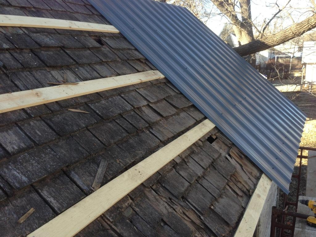 Installing a Metal Roof on a Shed on a budget