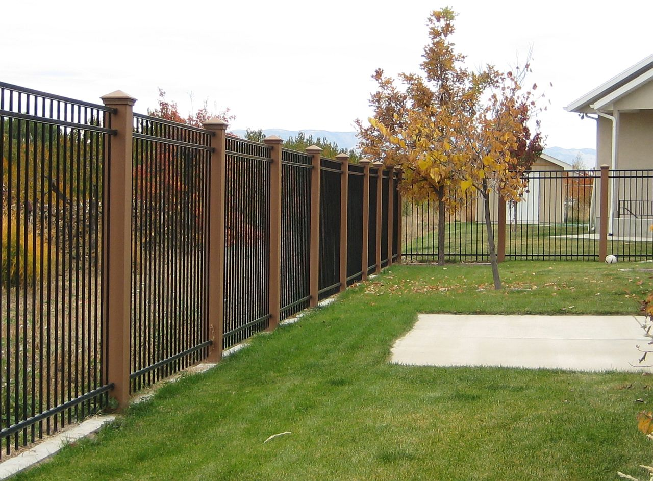 cheap painting a black metal fence